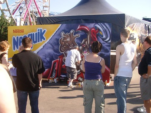 Street Art Event Performance Outdoor Marketing - Milwaukee Marketing Company ALT TERRAIN - Nesquik
