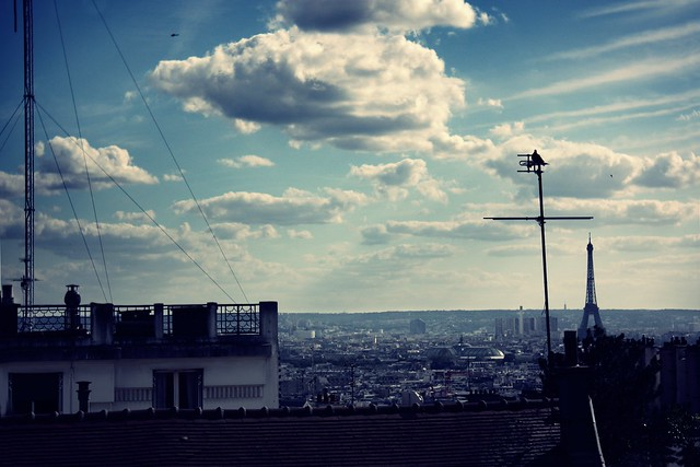 over the roofs of paris