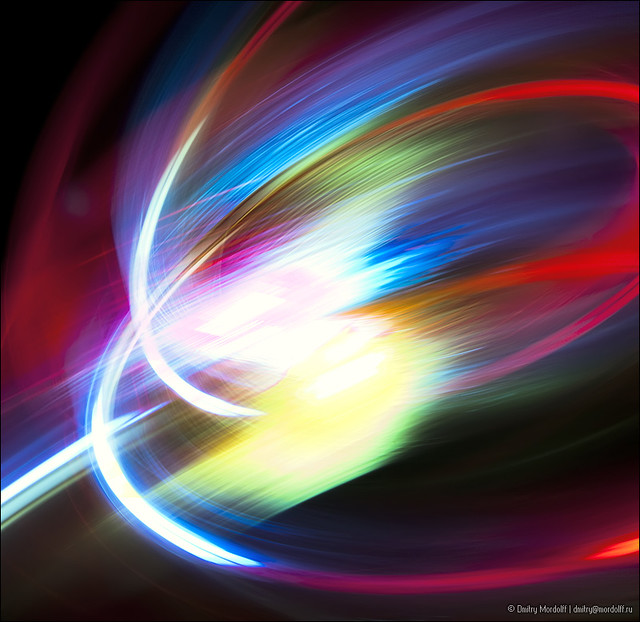 Abstract colored lights in motion