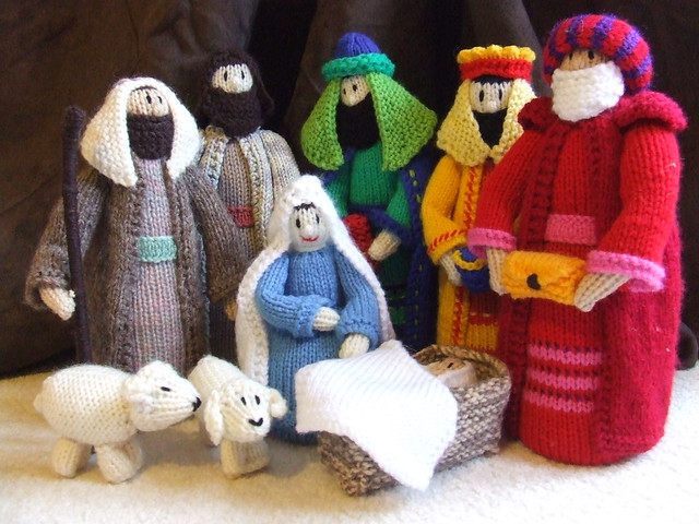Knitted nativity scene This took a long time to complete a? Flickr - Phot...