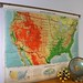 Vintage Classroom Pull Down Map, United States, Denoyer Geppert, School Map