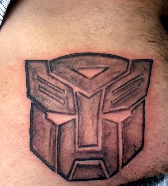 Led Transformers Autobot 3d Logo Emblem Badge Decal Auto Sticker Light