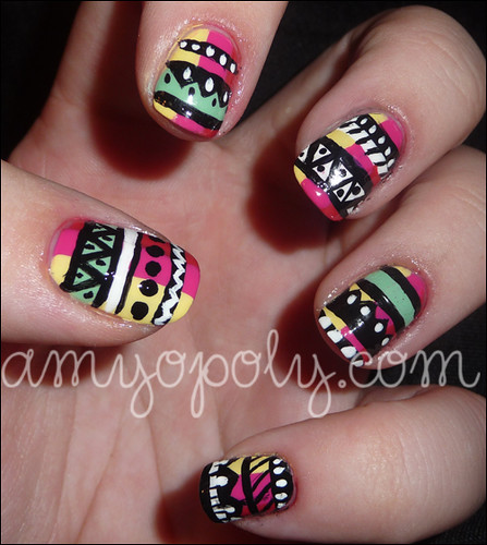 Nail Art: Aztec Nails