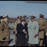 General MacArthur greeting Korean officials at Haneda 1950