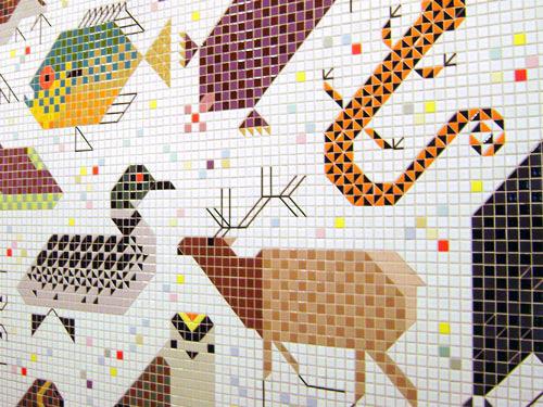 My owl barn charley harper mural for Charley harper mural cincinnati