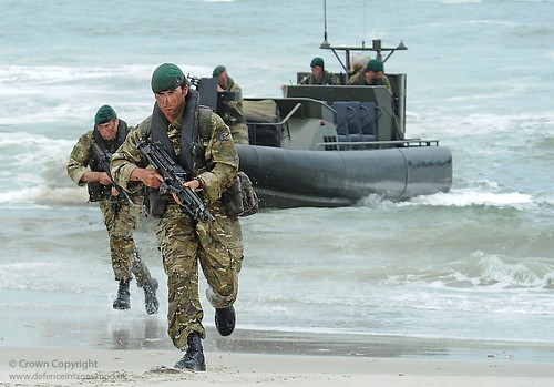 Royal Marines Storm the Beach During Amphibious Exercise