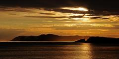 Midnight Sun over the island of Sørøya (Northern Norway)