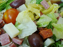 meal(0.0), breakfast(0.0), vegetarian food(0.0), meat(0.0), produce(0.0), waldorf salad(0.0), salad(1.0), vegetable(1.0), greek salad(1.0), food(1.0), dish(1.0), cuisine(1.0), caesar salad(1.0),