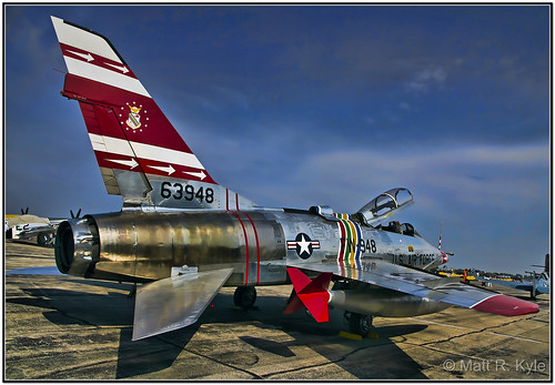 canon airplane fighter aircraft jet f100 aeroplane airshow sabre hdr warbird warplane topaz thunderovermichigan northamericanaviation supersabre topazadjust