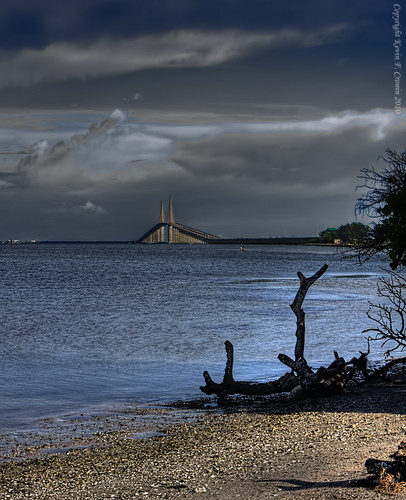 bridge tampabay canonef2470mmf28lusm hdr polarizingfilter sunshineskywaybridge 3exposure abigfave pinnellascounty kaycpics