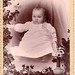 Baby memorial cabinet card
