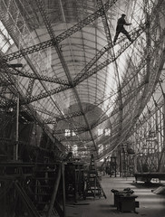 Skeleton of Graf Zeppelin, Friedrichshafen, 1928, by E.O. Hoppe