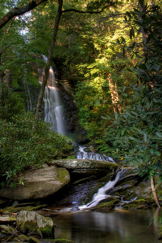 longexposure sun nature rock waterfall nc northcarolina hike hdr naturephotography rhododendrons wnc pisgahnationalforest ncmountains oldfort mcdowellcounty waterfallphotography davidhopkinsphotography uppercatawbafalls