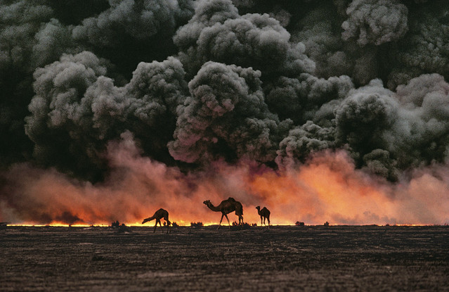 Ahmadi Oil Fields, Kuwait, 1991, by Steve McCurry 1991