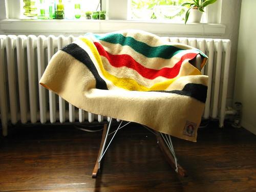 Sold - Pendleton Mills vintage HBC-style wool blanket