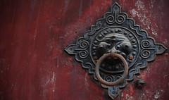 carving, art, door knocker, iron,