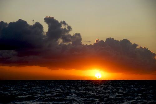 sea sky clouds sunrise ijsselmeer sail2010