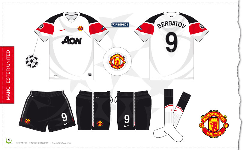 quality design 37f33 44b17 ... Manchester United Champions League away kit 20102011  by 7football