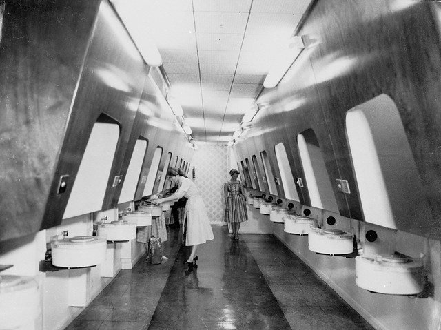 hmv 363 Oxford Street, London - Listening booths 1950s