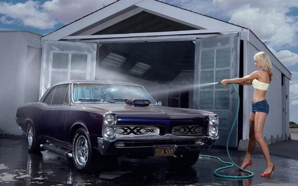 sexy muscle car wash a photo on flickriver. Black Bedroom Furniture Sets. Home Design Ideas