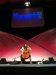#macworld2011 @ZoeCello playing @MacWorldexpo #macworld
