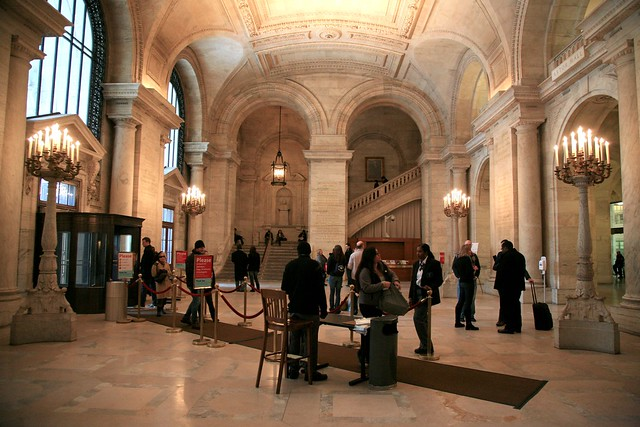 Lobby in New York Public Library