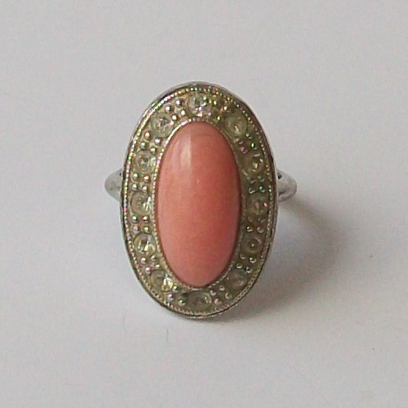 Vintage 70s Pink Coral Ring Flickr Photo Sharing