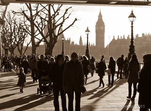 Low Winter Sunshine and Westminster