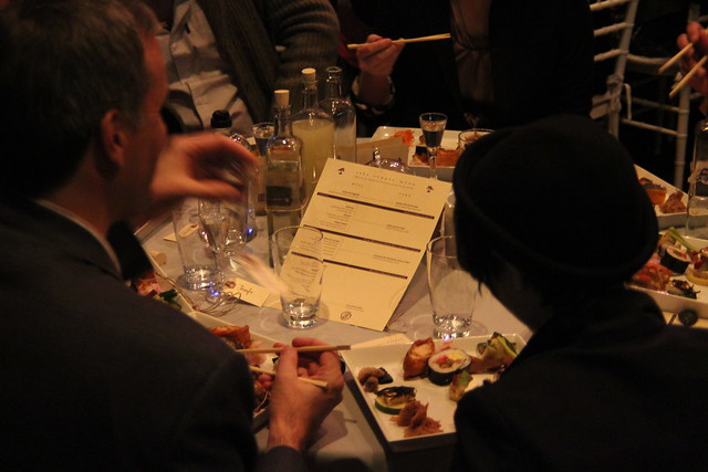 The tapas and sake pairing menu at Small Scale. Photo by Rebecca Bullene.