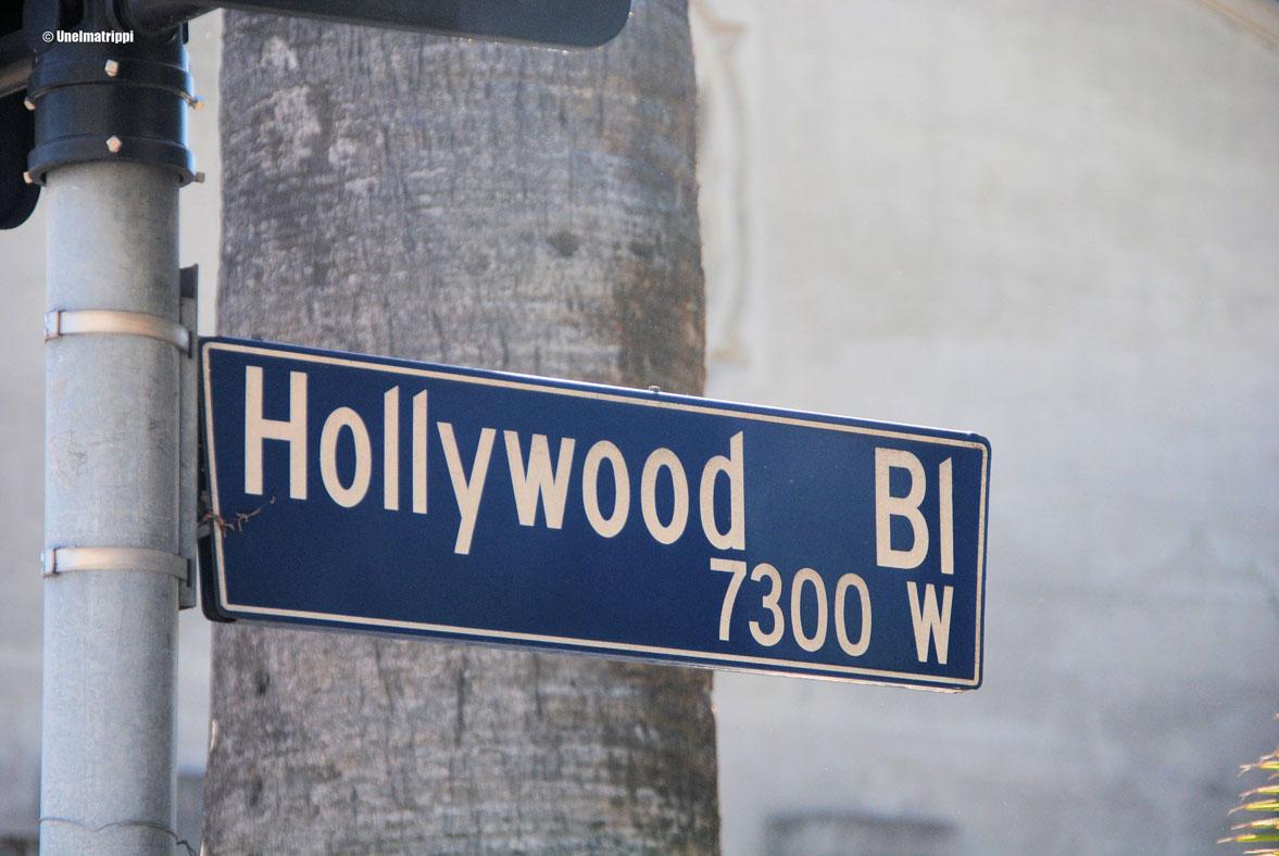 Hollywood Bulevard -kyltti, Los Angeles, Kalifornia, USA