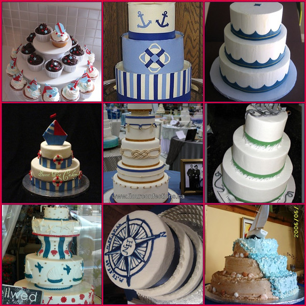 Nautical Themed Wedding Cakes