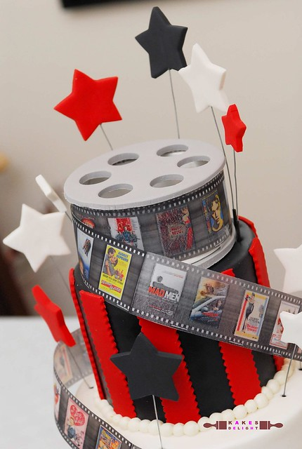 Movie Film-themed cake topper