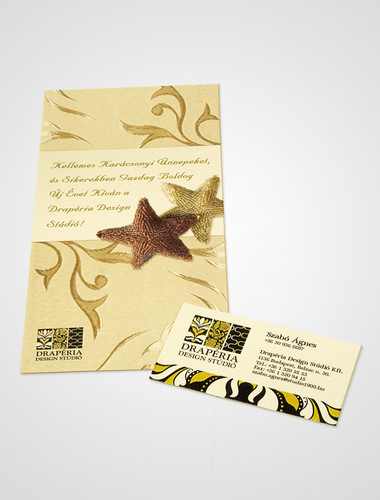 greeting card and business card design - Drapéria Design Stúdió by inezdesign