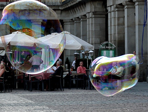Turistas en su burbuja/Tourists in their bubble