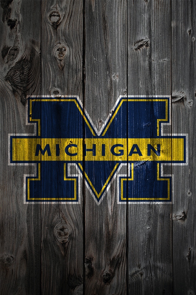 michigan wolverines wood iphone 4 background a photo on