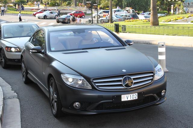 Mercedes benz cl v12 coupe matte black flickr photo for Matte black mercedes benz