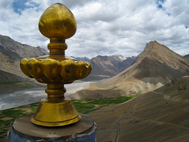Vista From Roof of Ki Gompa