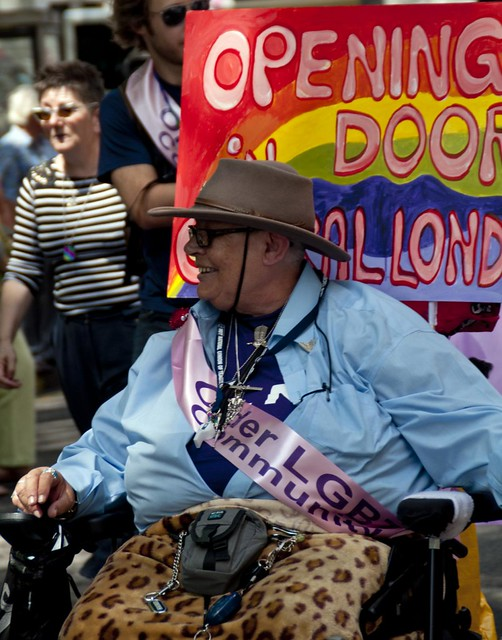 Not just the young took part this man was one of many older gay people who ...