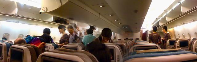 SIA A380-800 Interior Panorama