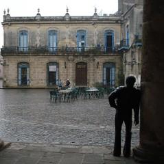 Plaza de la Catedral in the Rain
