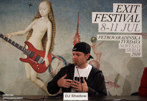 DJ Shadow press conference at Exit Festival 2010