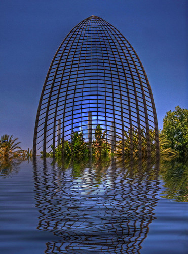 blue trees reflections spain structure cambrils canon40d keithpearmine