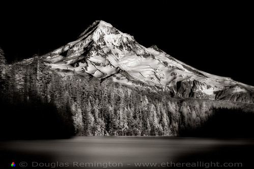The Lucid Union of Light. Mt. Hood and Lost Lake, Oregon