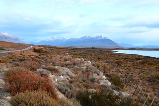 Road to Perito Moreno from El Calafate