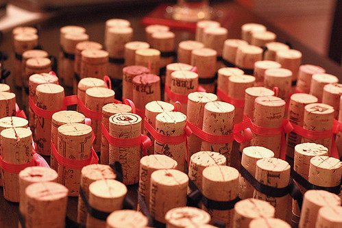 Wine Cork Wedding Seating Card Holders photo by amiefedora