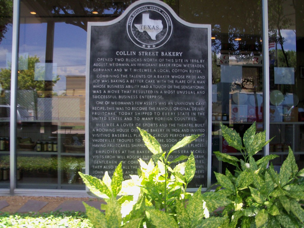 Collin Street Bakery, Corsicana, Texas Historical Marker