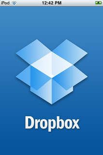 iPhone/iPod touch Screenshot: Dropbox Application Splash Screen