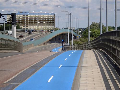 倫敦的自行車超級高速公路。(來源:diamond geezer)