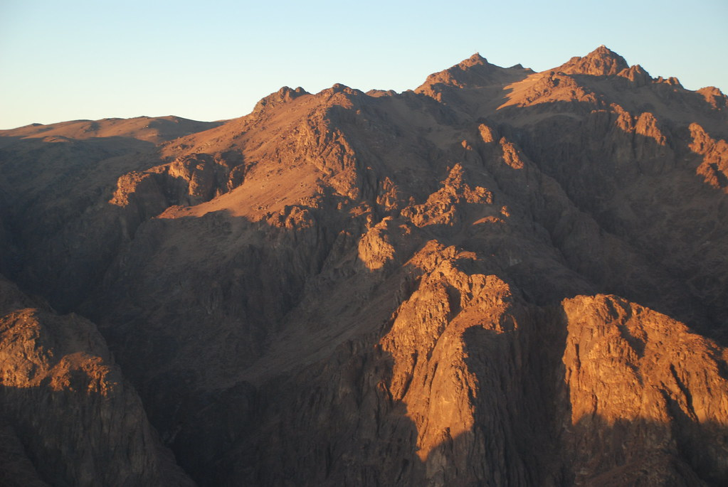 view from Mount Sinai, Egypt