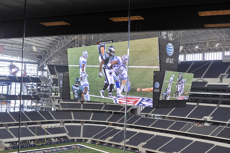 Big screen and Field from Press Box